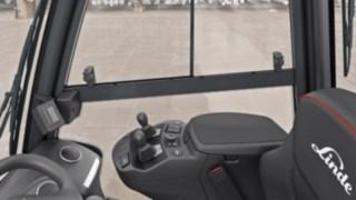 Fahrerkabine des neuen Gabelstaplers