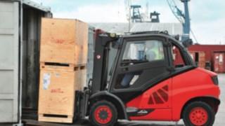 Containerfähigkeit Linde Stapler
