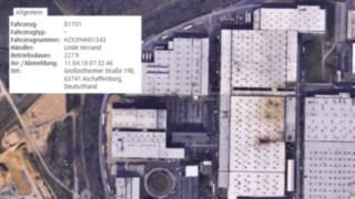 Das Modul connect:zi Truck Mapping von Linde Material Handling ruft den Standort jedes einzelnen Fahrzeugs ab.