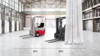 50 Jahre E-Stapler von Linde Material Handling