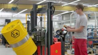 Ex-Schutz-Stapler von Linde Material Handling mit explosionsgeschützter Bauweise