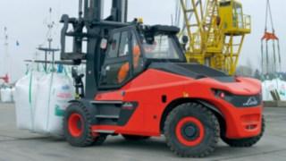Deselgroßstapler Linde HT100Ds bis HT180Ds im Traglastbereich zehn bis 18 Tonnen