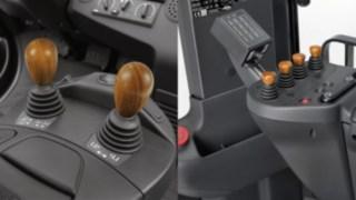 Holzgriff für die Joysticks der Linde Load Control