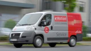 Linde Service Van. Elektrisches Fahrzeug auf Basis des Fiat Ducato