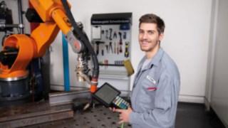 Auszubildender in der Ausbildung zum Konstruktionsmechaniker bei Linde Material Handling